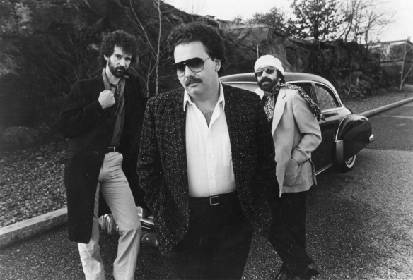 Thom Enright (left) with Duke Robillad and the Pleasure Kings, 1983