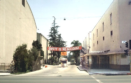 The gate at The Burbank Studios in 1976.